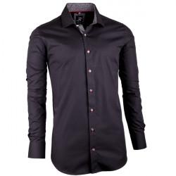 Černá pánská košile slim fit 100 % bavlna Brighton 109949