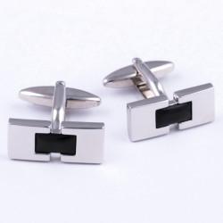 Manžetové knoflíčky stříbrné barvy Assante 90533