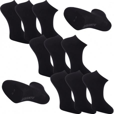561ae35e843 Multipack ponožky 9 párů černé antibakteriální kotníkové Ag Assante 785
