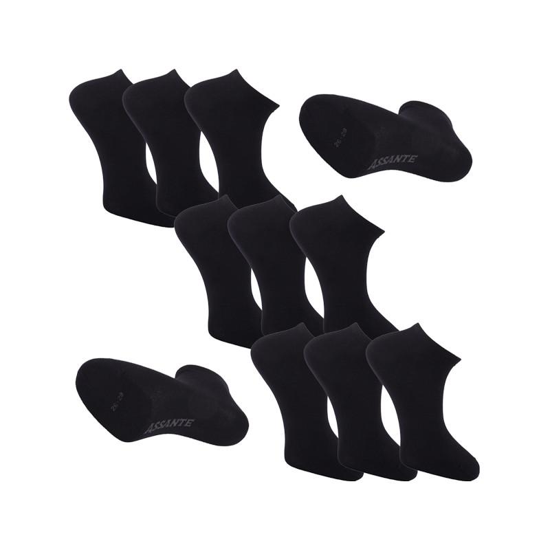 fff4f3b8843 Multipack ponožky 9 párů černé antibakteriální kotníkové Ag Assante 785 ...