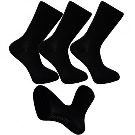 Multipack ponožky 3 páry bambusové černé pánské Assante 791 4d3502588f