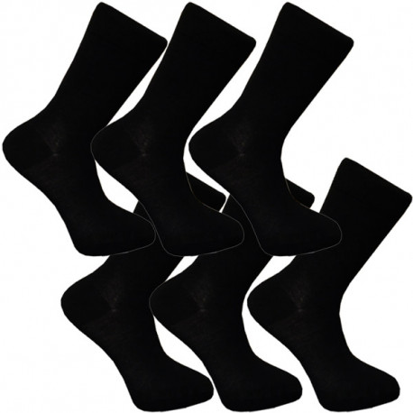 Multipack ponožky 6 párů bavlněné černé pánské Assante 702