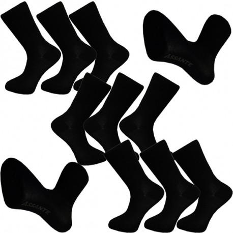 16b3336243c Multipack ponožky 9 párů bavlněné černé pánské Assante 703