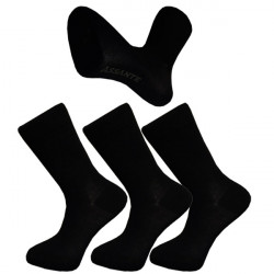Multipack ponožky 3 páry černé antibakteriální se stříbrem Assante 710