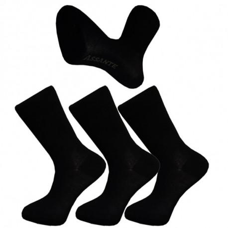 11675032b49 Multipack ponožky 3 páry černé antibakteriální se stříbrem Assante 710