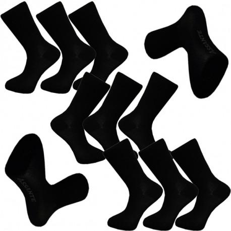 99fb7a9292a Multipack ponožky 9 párů černé antibakteriální se stříbrem Assante 712