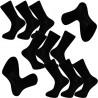 Multipack ponožky 9 párů černé antibakteriální se stříbrem Assante 712