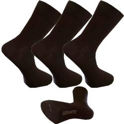 Multipack ponožky 3 páry hnědé antibakteriální se stříbrem Assante 720