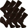 Multipack ponožky 9 párů hnědé antibakteriální se stříbrem Assante 722