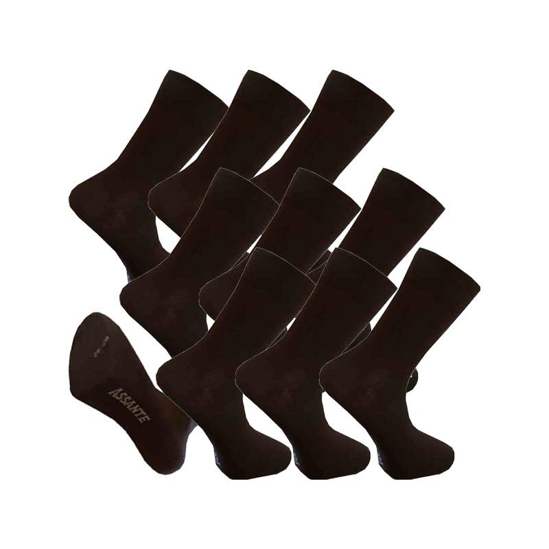 c7d24f9a464 Multipack ponožky 9 párů hnědé antibakteriální se stříbrem Assante 722
