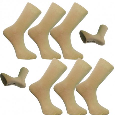Multipack ponožky 6 párů béžové antibakteriální se stříbrem Assante 731