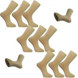 Multipack ponožky 9 párů béžové antibakteriální se stříbrem Assante 732