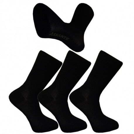 da09de5422b Multipack ponožky 3 páry černé froté chodidlo antibakteriál Assante 740