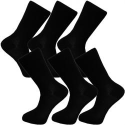 Multipack ponožky 6 párů černé froté chodidlo antibakteriál Assante 741