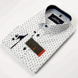 Nadměrná pánská košile bílá dlouhý rukáv Native 120505