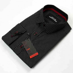 Nadměrná pánská košile černá dlouhý rukáv Native 120506