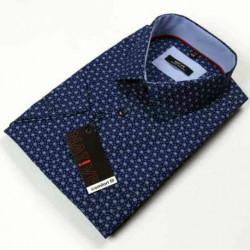 Nadměrná pánská košile modrá krátký rukáv Native 120508