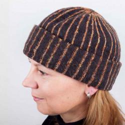 Hnědá dámská elegantní čepice Tonak 87310