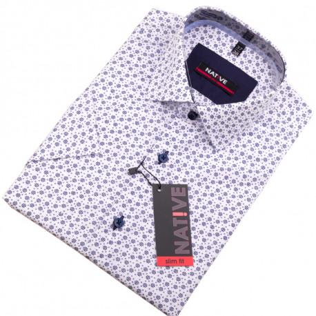 Bílá pánská košile s krátkým rukávem Native 120304