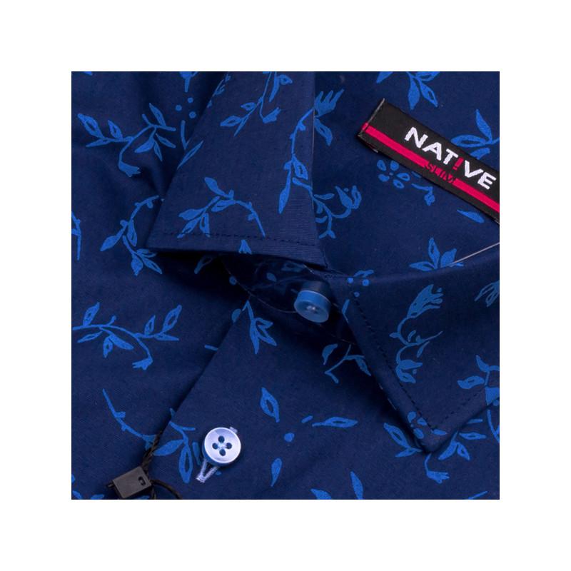 Modrá pánská košile s krátkým rukávem Native 120305 b45eb60837