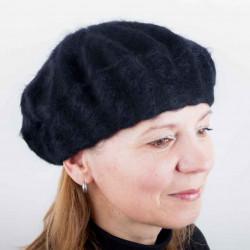 Černý dámský baret počesaný Tonak 87212
