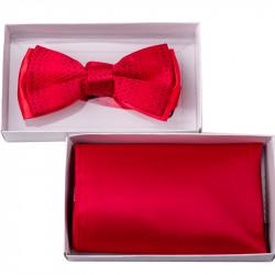 Červený motýlek s kapesníčkem Assante 90210