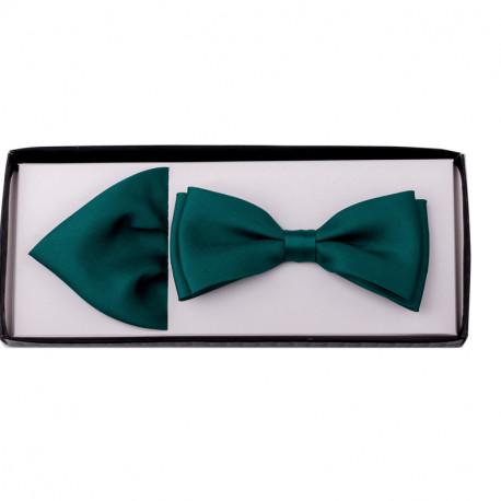 Smaragdový motýlek s kapesníčkem Assante 90222