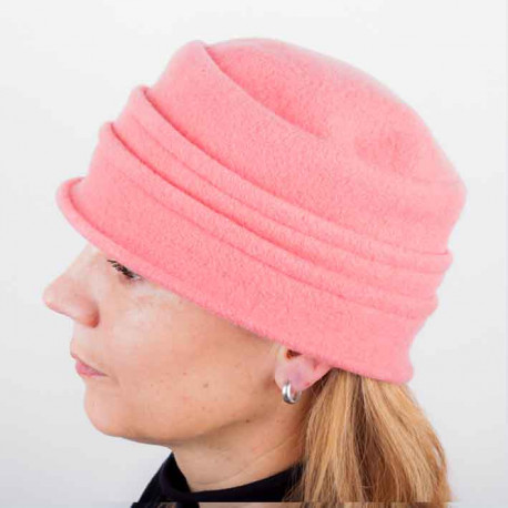 Korálový elegantní dámský klobouk Tonak 87114