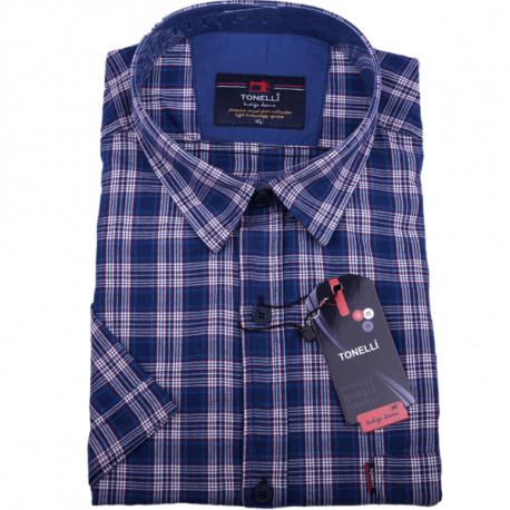 Nadměrná modrá košile 100 % bavlna Tonelli110818