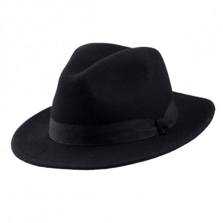 ce3fec83a2a Černý pánský klobouk Assante 85028