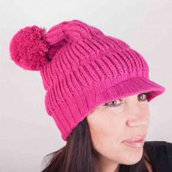 Růžová pletená čepice zimní Pletex 88060