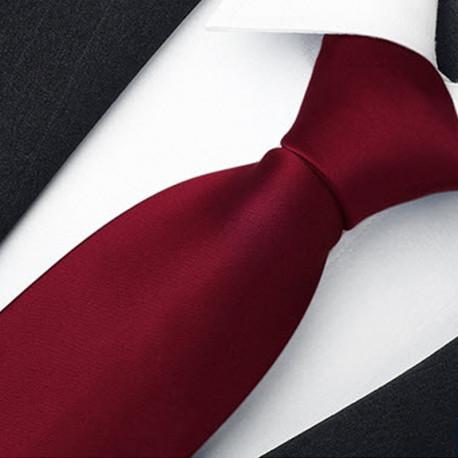 Bordó pánská kravata jednobarevná Rene Chagal 99967
