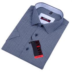 Modrá pánská košile s krátkým rukávem slim Native 120314
