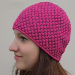 Růžová pánská úpletová čepice Pletex 86040