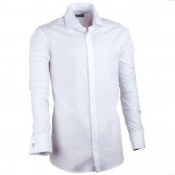 Extra prodloužená košile bílá na manžetový knoflík 20026