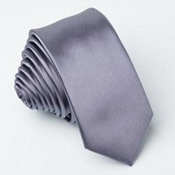 Tmavá šedá kravata slim fit Greg 99119