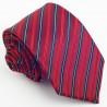 Luxusní červená kravata pruhovaná Greg 93205