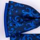 Modro černý motýlek s kapesníčkem Assante 90258