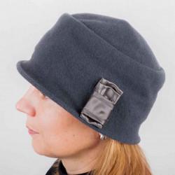 Šedý dámský klobouk z čisté vlny Tonak 87111