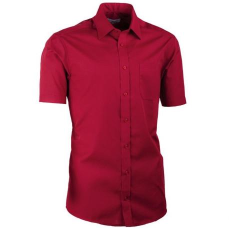Nadměrná košile bordó 100 % bavlna non iron Assante 41035