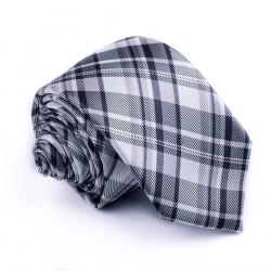 Úzká šedá kravata Greg 99032