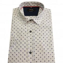 Pánská košile krátký rukáv bílá bavlna Native 40706