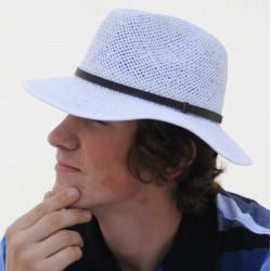 Bílý luxusní pánský letní klobouk Assante 80001
