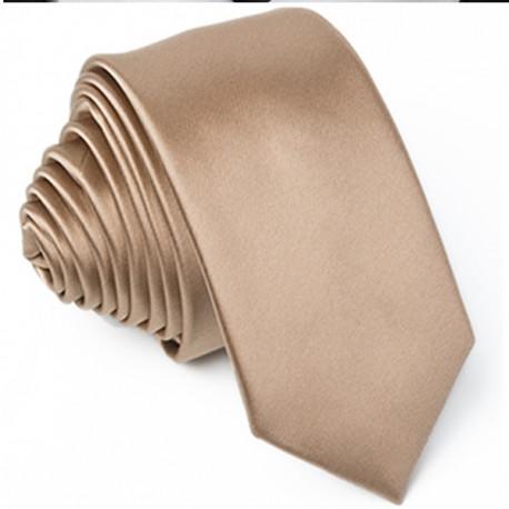 Zlatá kravata slim Rene Chagal 99121