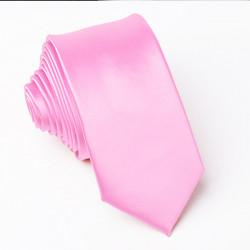 Růžová kravata slim Greg 99160