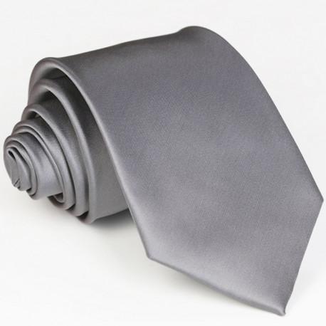 Šedá kravata jednobarevná Rene Chagal 99924