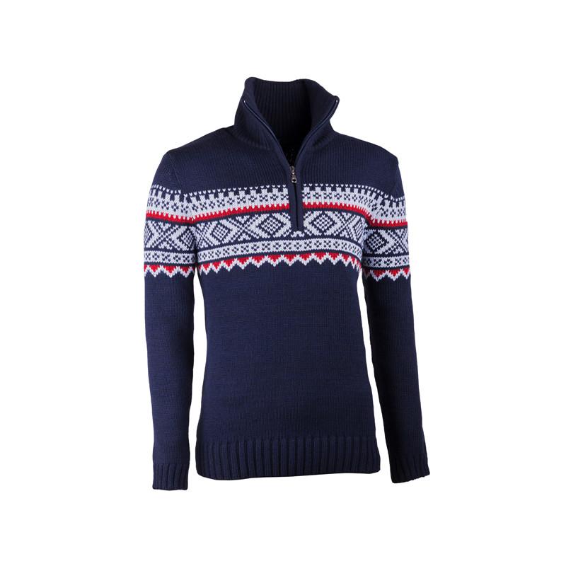 b594058141c Modrý pánský svetr norský vzor Assante 51022
