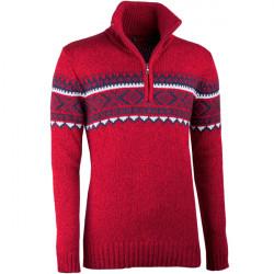 Červený pánský svetr norský vzor Assante 51023