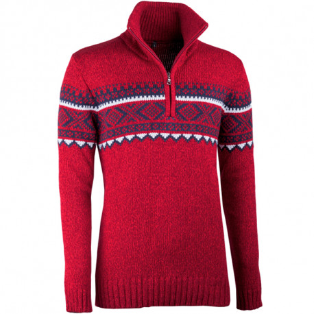742aab16d55 Červený pánský svetr norský vzor Assante 51023
