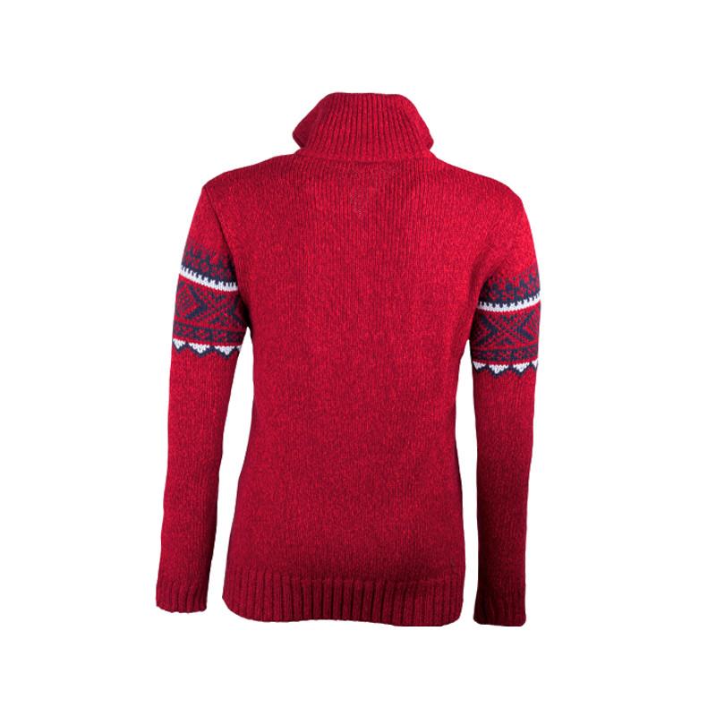 0ed254f0db5 Červený pánský svetr norský vzor Assante 51023